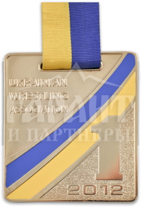 "Медаль ""Ukrainian wrestling association"""